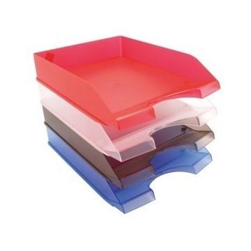 Ladice za spise prozirno crvene