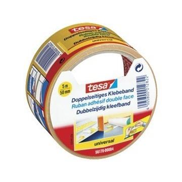 Traka ljepljiva obostrana 50mm/5m Universal Tesa bijela blister
