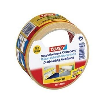 Traka ljepljiva obostrana 50mm/10m Universal Tesa bijela blister