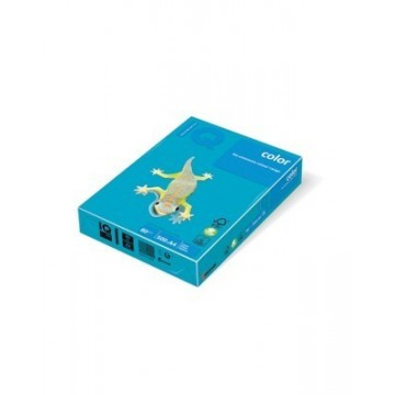 Papir A4 fotokopirni 80g IQ color intenziv Aqua Blue 500/1