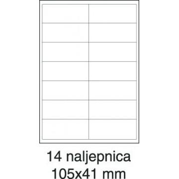Etikete laser 105x41 100/1...
