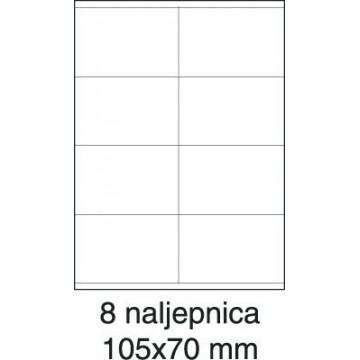 Etikete laser 105x70 100/1...