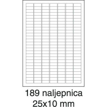 Etikete laser 25,4x10 100/1...