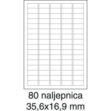 Etikete laser 35,6x16,9...