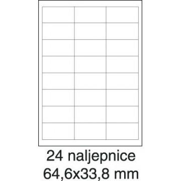 Etikete laser 64,6x33,8...