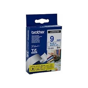 Ribbon BROTHER 9mm plavo na bijelom - TZE223