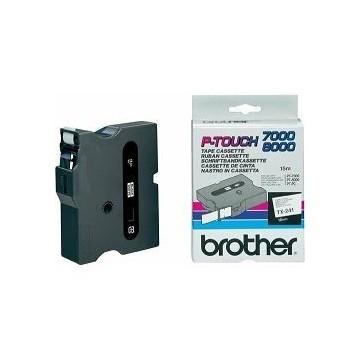 Ribbon BROTHER TX241 18mm crna na bijelom