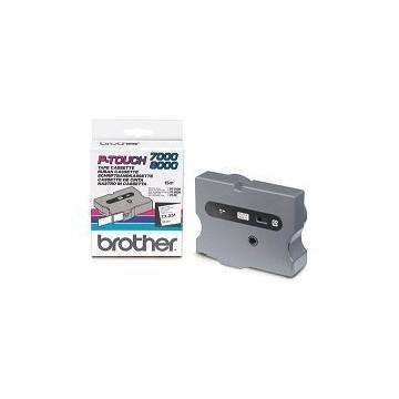 Ribbon BROTHER TX251 24mm crna na bijeloj laminirana