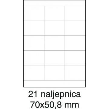 Etikete laser 70x50,8 100/1...