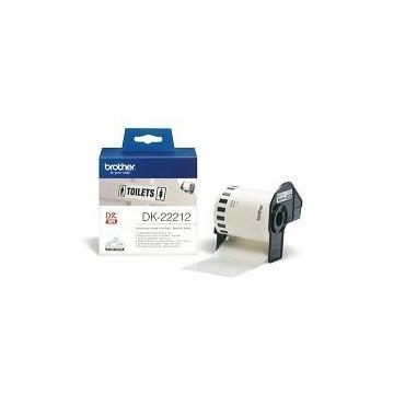 Ribbon BROTHER DK22212 bijela film papirna traka 62mm u dužini 15.24m