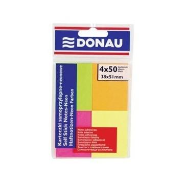 Blok samoljepljiv 38x51mm 4x50L Donau neon