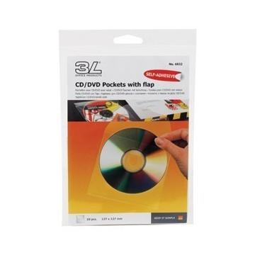 Etui za 1 CD pp samoljepljiv s klapom 10/1