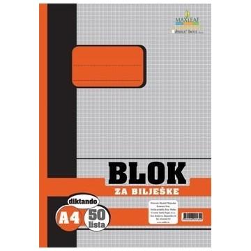 Blok za bilješke, A4 karo...