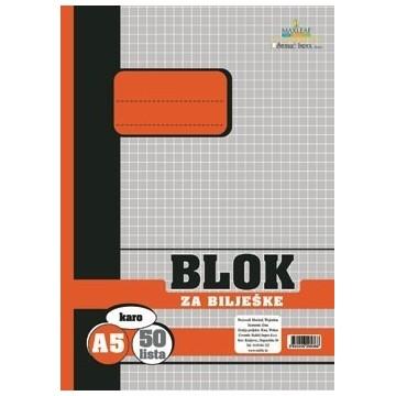 Blok za bilješke, A5 karo...