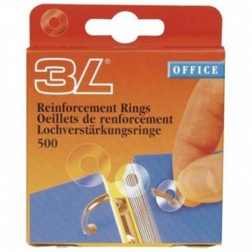 Etikete za ojačanje rupa fi13mm pp pk500  prozirna
